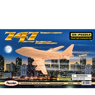 Puzzled Wood 'Boeing 747 Airplane' 3D Puzzle Kit