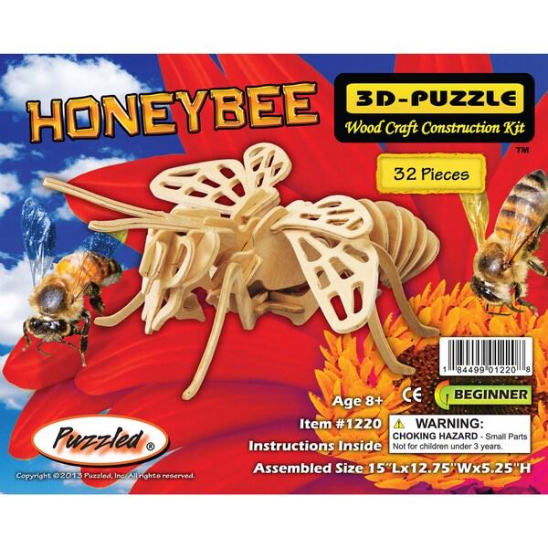 Puzzled Honeybee Wooden 3D Puzzle
