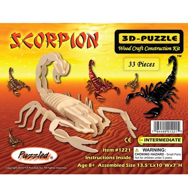 Puzzled Scorpion Wooden 3D Puzzle