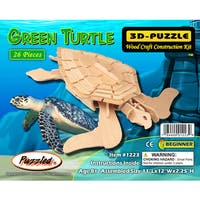 Puzzled 26-piece Green Turtle 3D Puzzle