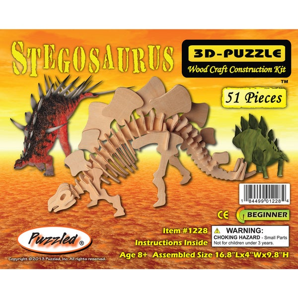Puzzled Wood 'Stegosaurus' 3D Puzzle Kit