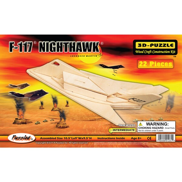 Puzzled F-117 Nighthawk 3D Wood Puzzles