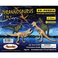 Puzzled Tyrannosaurus 2-in-1 3D Puzzle
