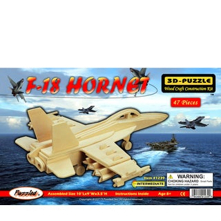 Puzzled Inc Wooden F-18 Hornet 3D Puzzle