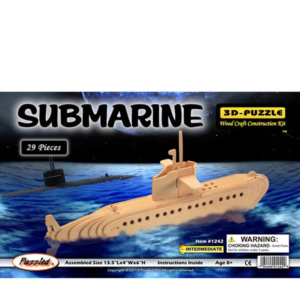 Puzzled Submarine Wooden 3D Puzzle
