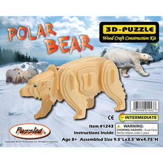 Puzzled Inc. Polar Bear 3D Puzzle