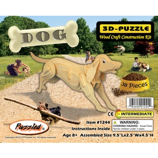 Puzzled Dog Wooden 3D Puzzle