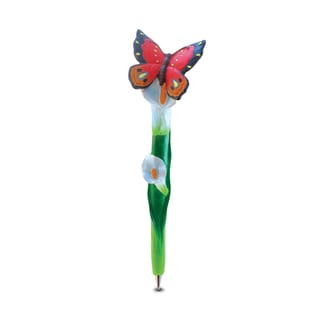 Puzzled Inc. Planet Multicolor Resin Butterfly Pen