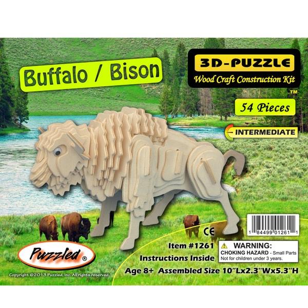 Puzzled Buffalo/Bison 3D Puzzle