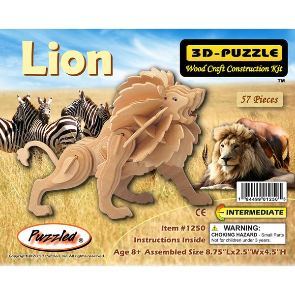 Puzzled Little Lion 3D Puzzle
