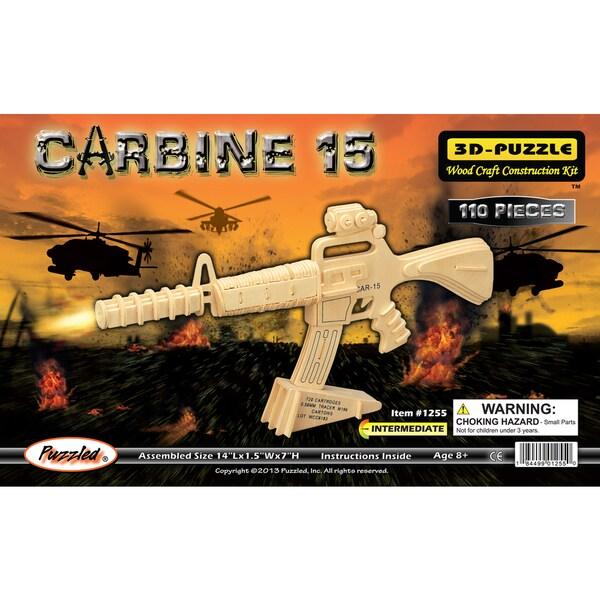 Puzzled Carbine 15 Wood 3D Puzzle