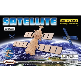 Puzzled Wooden Satellite 3D Puzzles