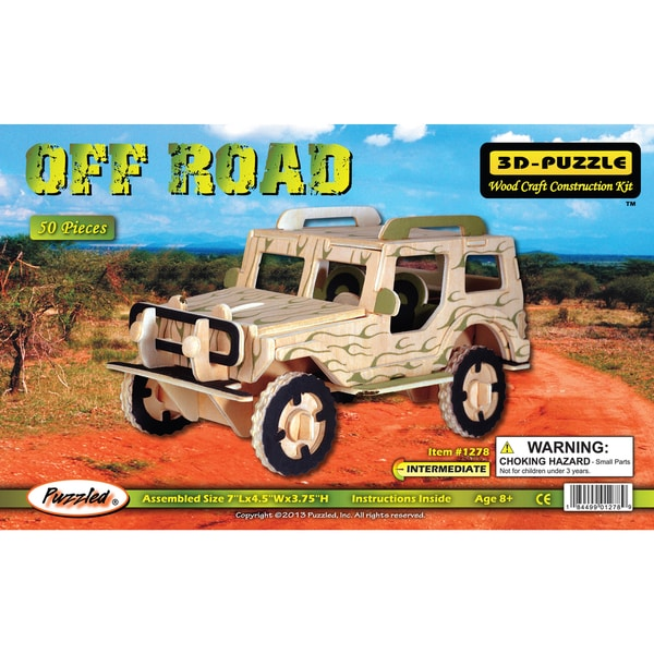 Puzzled Wood 'Off Road Vehicle' 3D Puzzle Kit