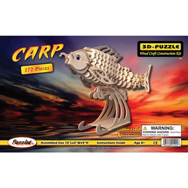 Puzzled Inc. Wood Carp 3D Puzzle