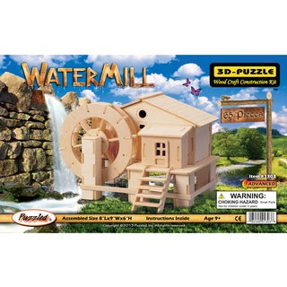 Puzzled Inc Wooden Water Mill 3D Puzzle