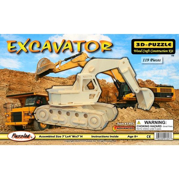 Puzzled Excavator Wood 3D Puzzle