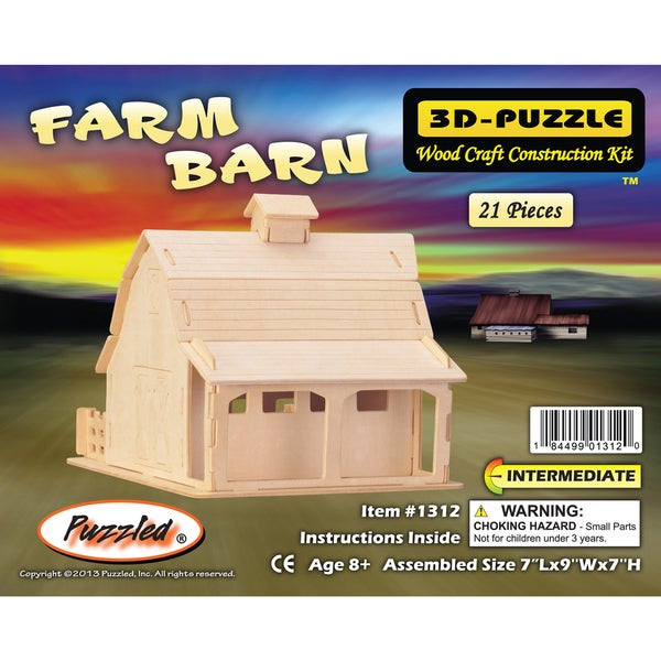 Puzzled Farm Barn 3D Puzzle