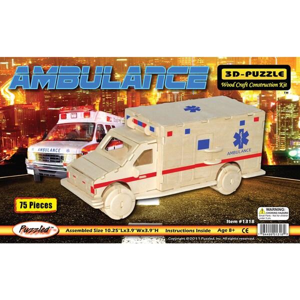 Puzzled Ambulance Wooden 3D Puzzle