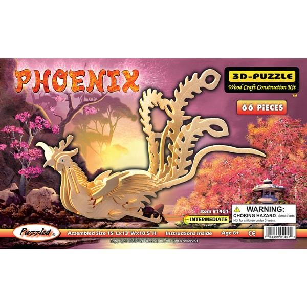 Puzzled 3D Puzzles Wood Phoenix Construction Kit