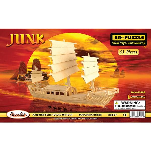 Puzzled Wood 'Junk Boat' 3D Puzzle Kit