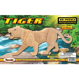 Puzzled Wood 'Tiger' 3D Puzzle Kit