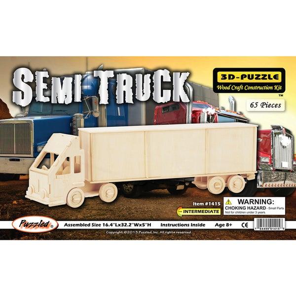Puzzled Semi Truck 3D Puzzle
