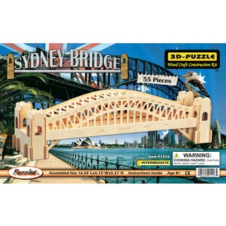 Puzzled Inc Wooden 55-piece Sydney Bridge 3D Puzzle