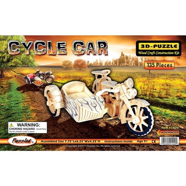 Puzzled Cycle Car Wooden 3D Puzzle