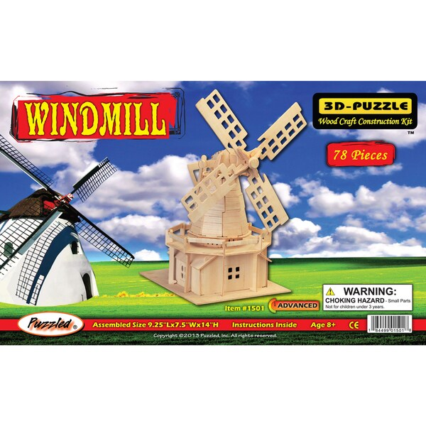 Puzzled Windmill 3D Puzzle