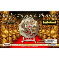 Puzzled Wooden Lucky Dragon & Phoenix 3D Puzzles