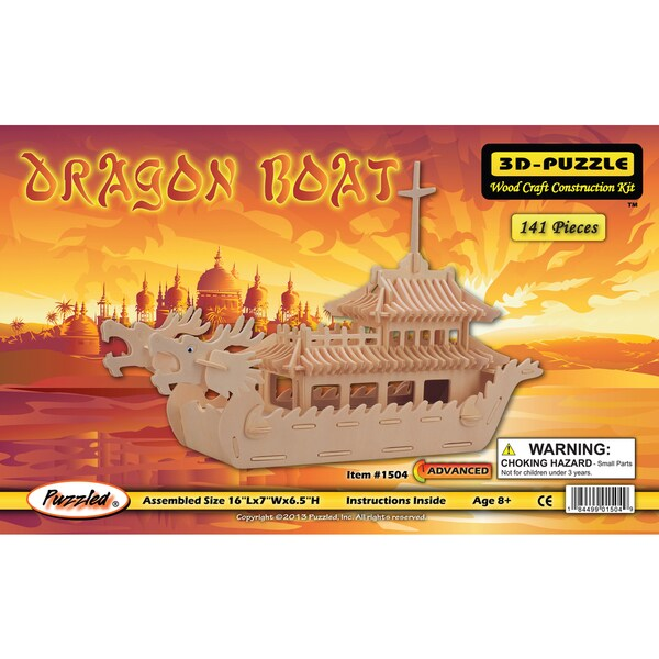 Puzzled Dragon Boat 3D Puzzle