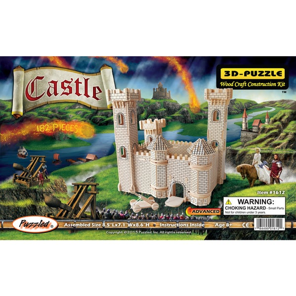 Puzzled Inc Wooden 3D Castle Puzzle