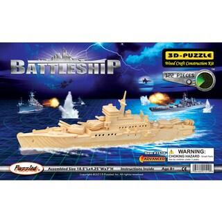 Puzzled Inc. Wood Battleship 3D Puzzle
