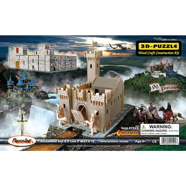 Puzzled 3D Puzzles Wood Fortress Construction Kit