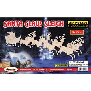 Puzzled 3D Puzzles Santa Claus Sleigh Puzzle