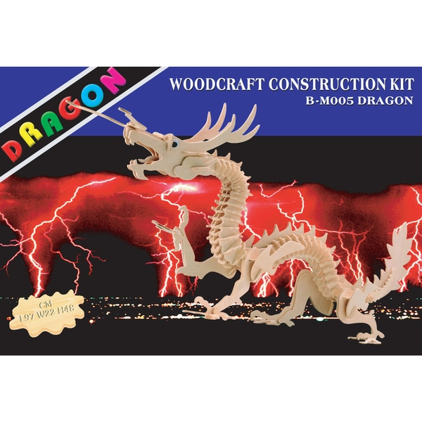 Puzzled 3D Dragon Woodcraft Construction Kit