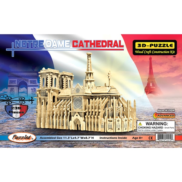Puzzled Notre Dame Cathedral 3D Puzzle. Opens flyout.