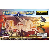 Puzzled Inc Wooden 3D Flying Horse Puzzle