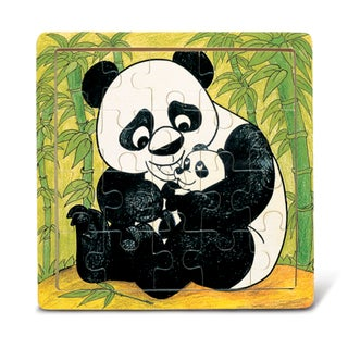 Puzzled Inc Multicolor Panda Jigsaw Puzzle with Wooden Border