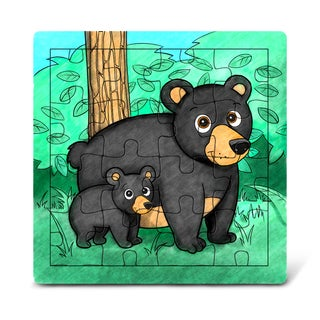 Puzzled Wood 'Black Bear' Jigsaw Puzzle