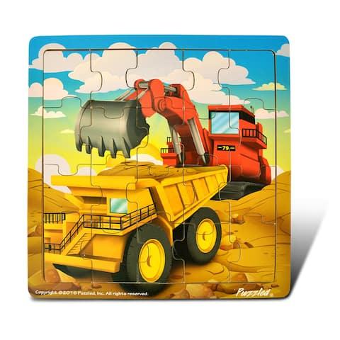 PuzzledDump Truck & Excavator Jigsaw Puzzle