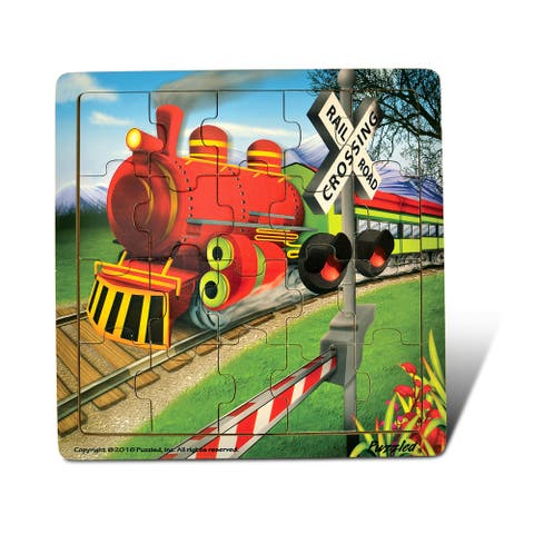 Puzzled Jigsaw Train