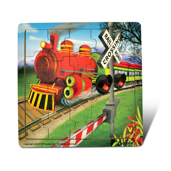 Puzzled Jigsaw Train