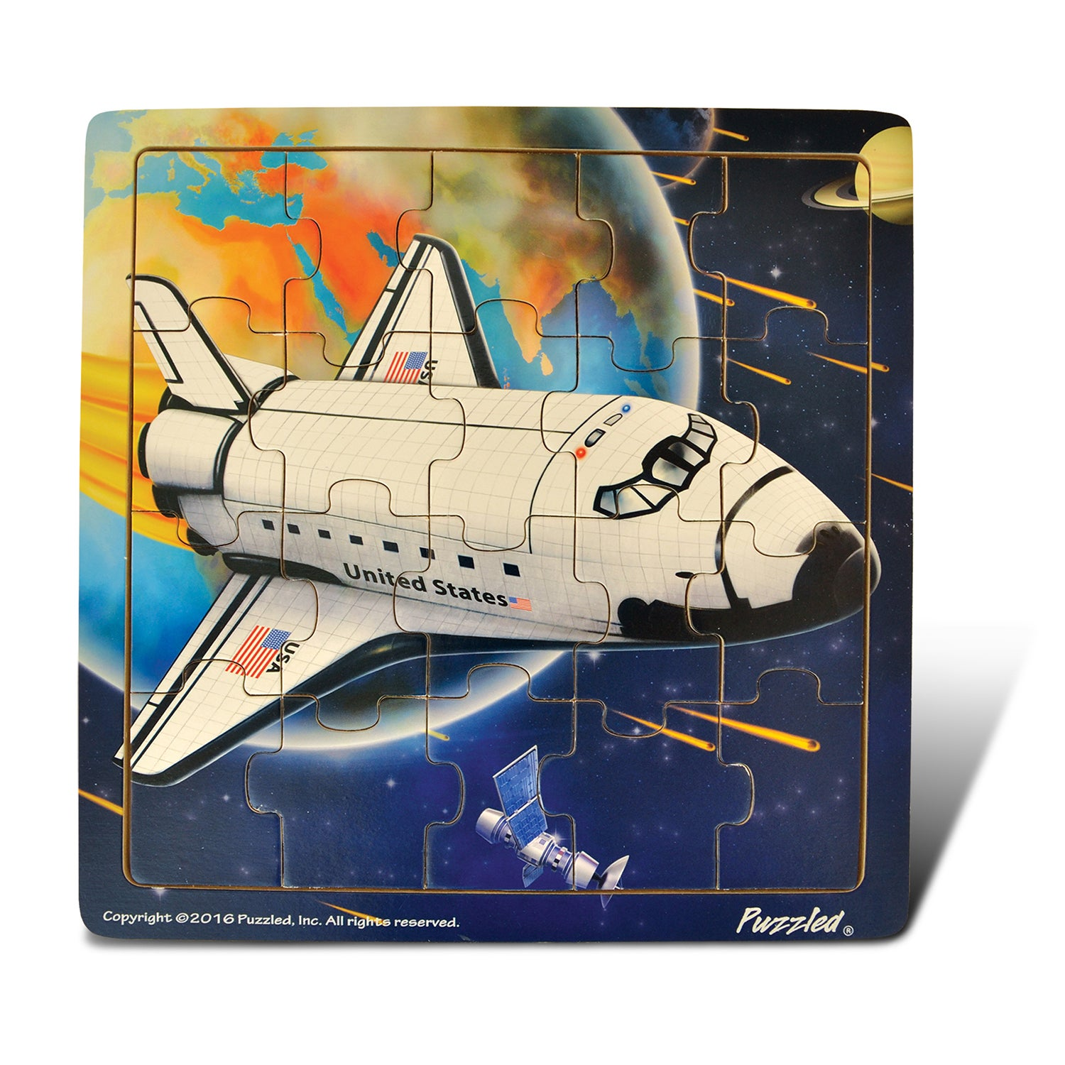 Puzzled Inc Wooden Space Shuttle Jigsaw Puzzle (Assembled...