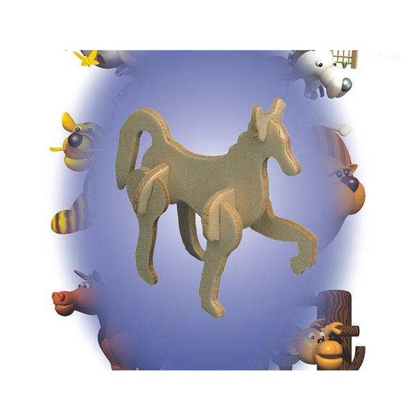 Puzzled Wood 'Horse' Mini 3D Puzzle Kit