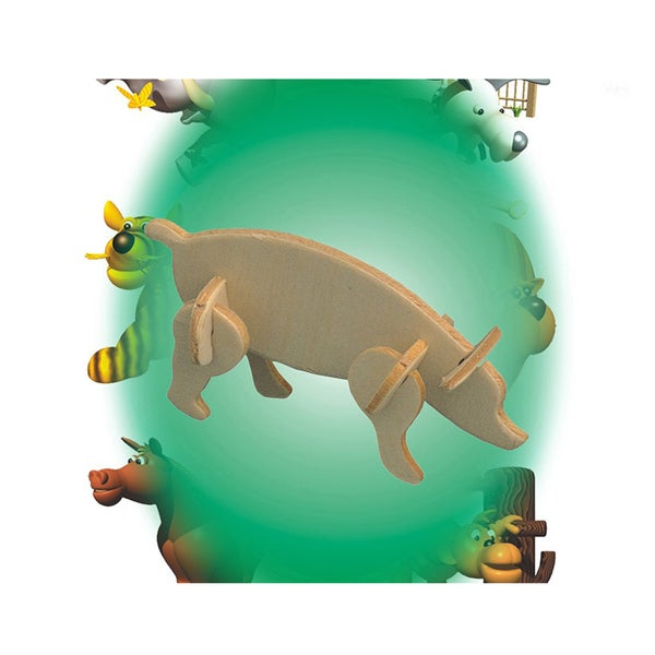Puzzled Pig Wood Mini 3D Puzzle