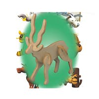 Puzzled Antelope Mini 3D Puzzle