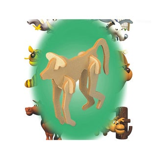 Puzzled Wood 'Baboon' Mini 3D Puzzle Kit