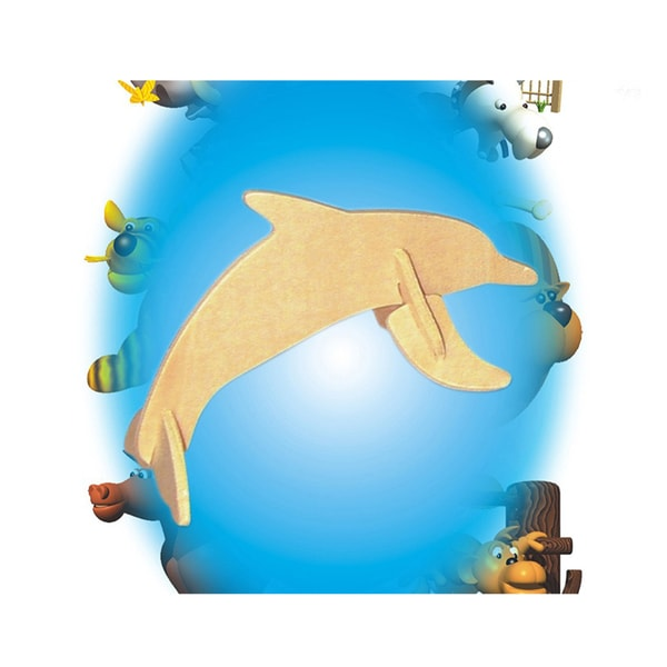 Puzzled Wood 'Dolphin' Mini 3D Puzzle Kit