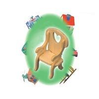 Puzzled Inc. Mini 3D Chair Woodcraft Kit